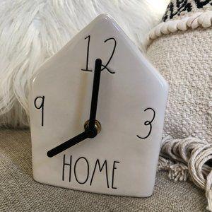 Rae Dunn Home Clock birdhouse NWT